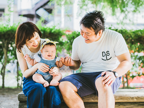 奈良で家族写真の撮影