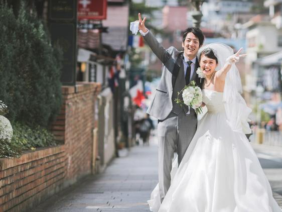 神戸の北野にあるル・ヴァンヴェールで結婚式の写真撮影♪